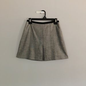 Grey H&M Midi Zipped Up Skirt